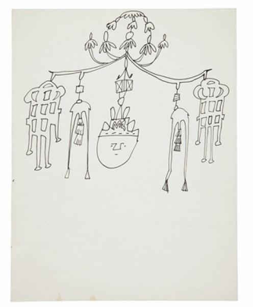Andy Warhol, 'Chime with Spirit Head', 1954, Dean Borghi Fine Art