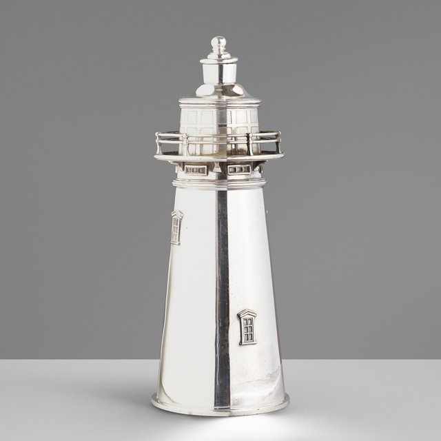 International Silver Company, 'Boston Lighthouse cocktail shaker', c. 1927, Wright