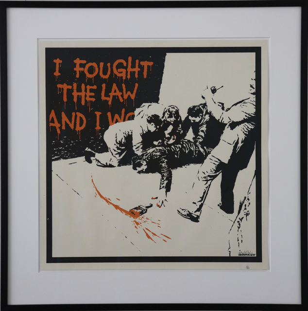 , 'I Fought The Law signed,' 2004, Galerie Kronsbein