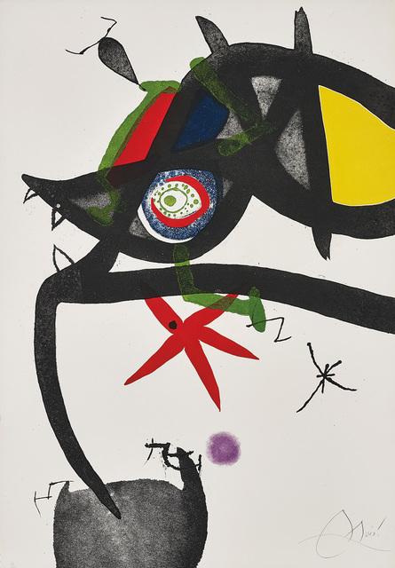 Joan Miró, 'Quatre Colors aparien el món (Four Colours will Beat the World): one plate', 1975, Phillips