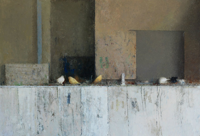 Pedro Escalona, 'Pájaros', ca. 2019, Painting, Oil on wood, Galeria Jordi Barnadas