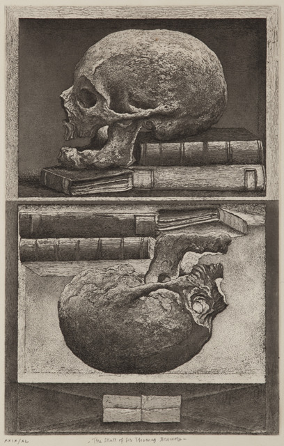, 'The Skull of Sir Thomas Browne,' 2010, Childs Gallery
