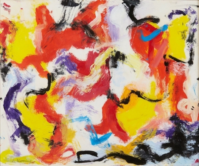 "Willem DeKooning  ""Untitled"" c. 1975-1977 Oil on paper mounted to canvas"