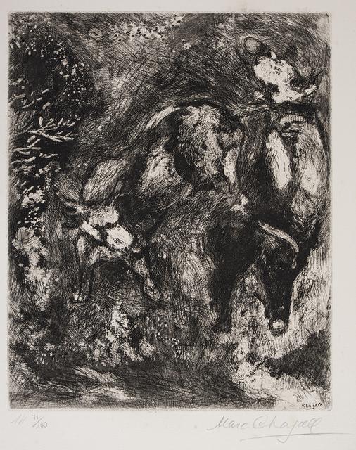 Marc Chagall, 'Les Deux Taureaux et une Grenouille', 1927-1930, Wallector