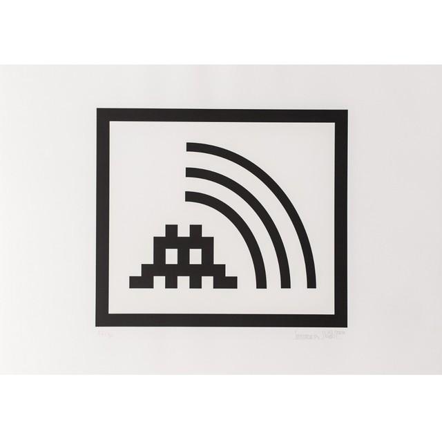 Invader, 'Space vibes black', 2009, Galerie Slika