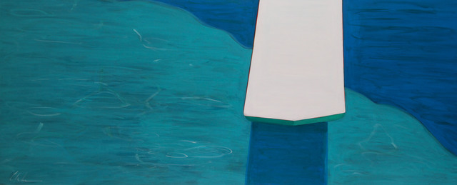 , 'Pool With Diving Board,' 2018, Caldwell Snyder Gallery