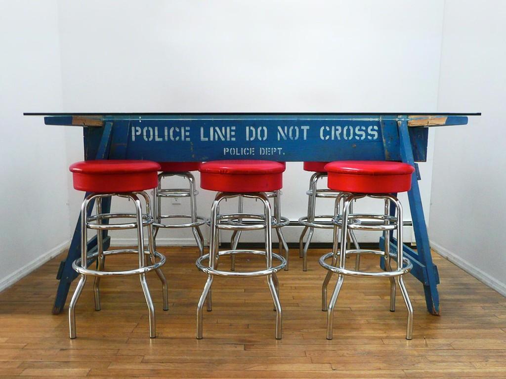 Police Barricade Blue