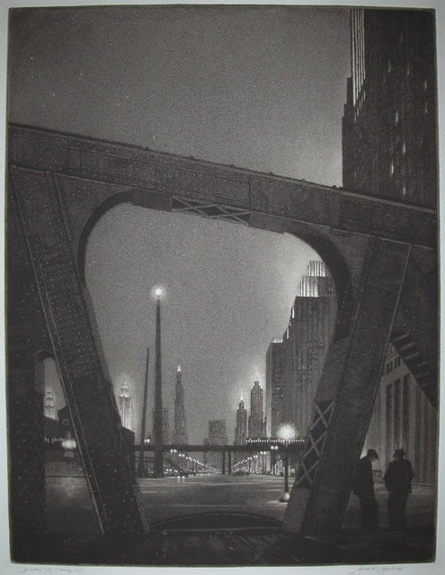 ", '""Jewelled City"",' 1931, Catherine E. Burns Fine Prints"