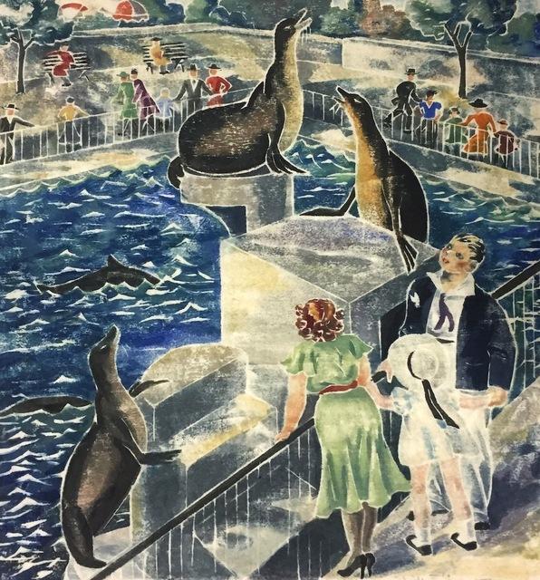 , 'Seals in Central Park (NYC),' ca. 1940, Susan Teller Gallery