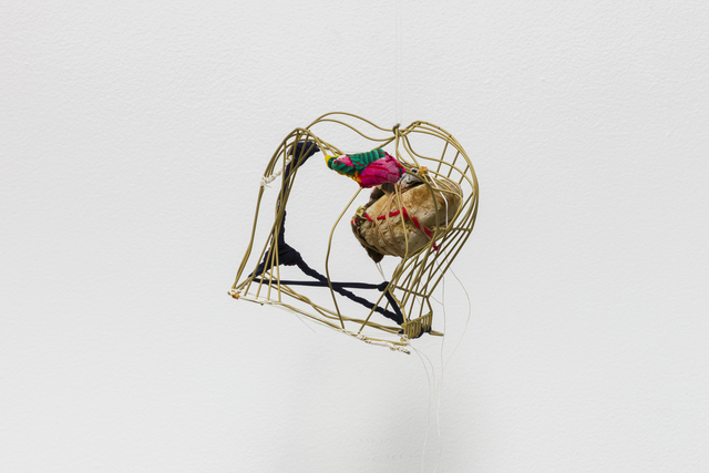 "Sônia Gomes, 'Untitled, from ""A vida não me assusta"" series', 2020, Sculpture, Wire, fabric, threads and stone, Blum & Poe"
