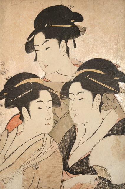 Kitagawa Utamaro, 'Tomimoto Toyohina, Naniwaya Kita and Takashima Hisa', ca. 1792, Ronin Gallery