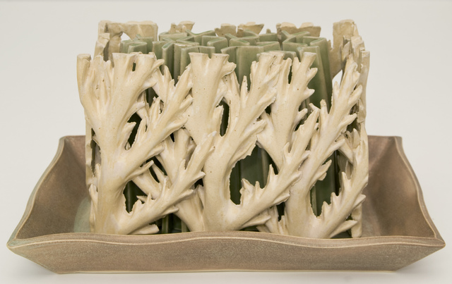 , 'Green and White Tulipiere,' , Clark Gallery