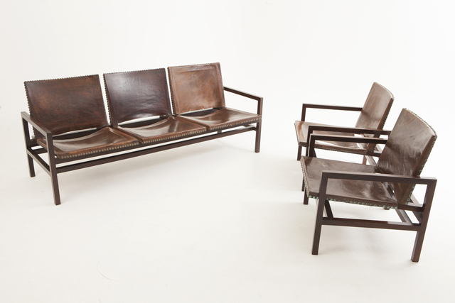 , 'leather couch,' ca. 1950, Mercado Moderno
