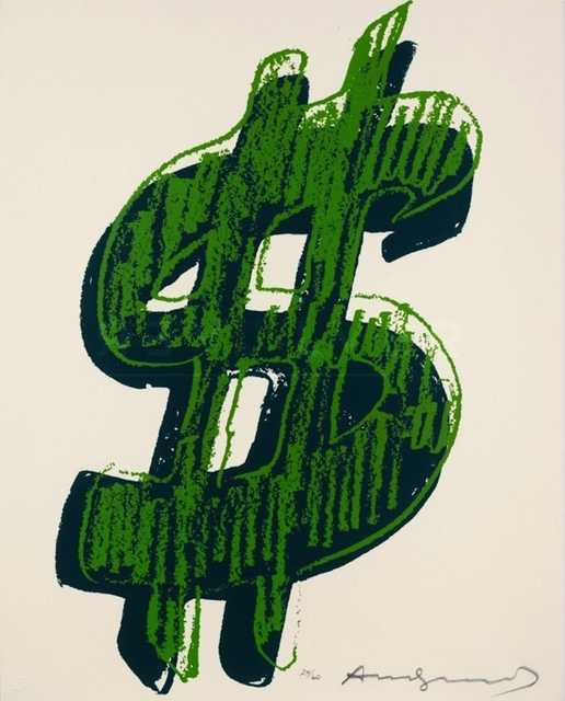 Andy Warhol, 'Dollar Sign, Green (FS II.278)', 1982, Print, Screenprint on Lenox Museum Board., Revolver Gallery