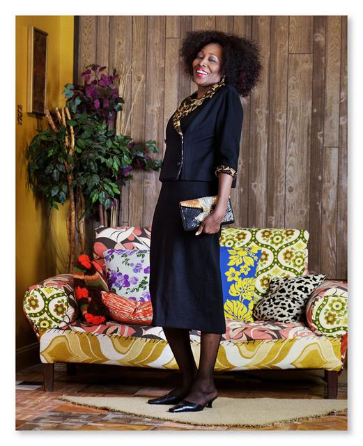 Mickalene Thomas, 'Mama Bush: (Your Love Keeps Lifting Me) Higher and Higher', 2012, Galerie Nathalie Obadia