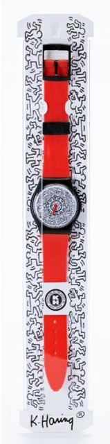 Keith Haring, 'Keith Haring Running Time Wrist Watch (Red)', ca. 1992, Alpha 137 Gallery