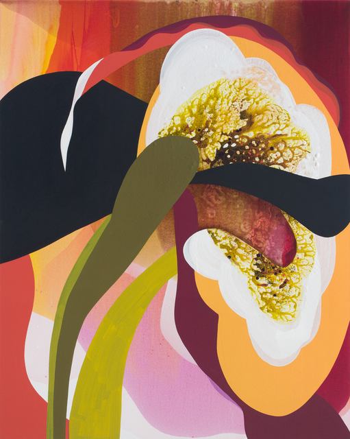 Carrie Moyer, 'Marshmallow Squash Blossom', 2019, DC Moore Gallery