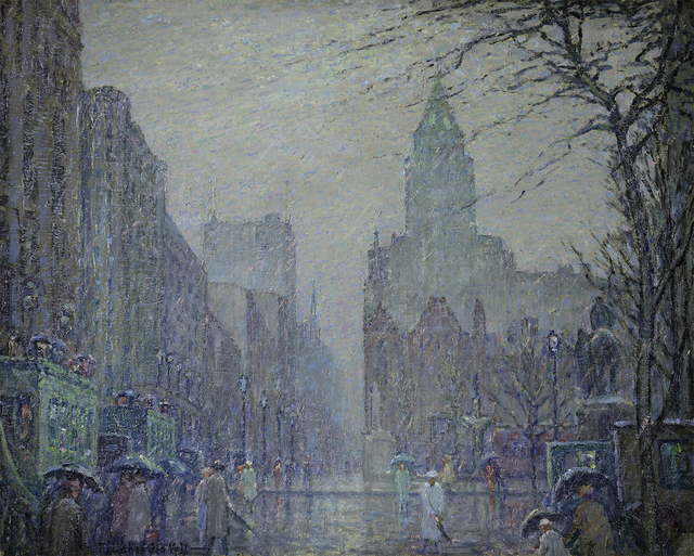 , 'Showery Day, Fifth Avenue at the Plaza,' , Questroyal Fine Art