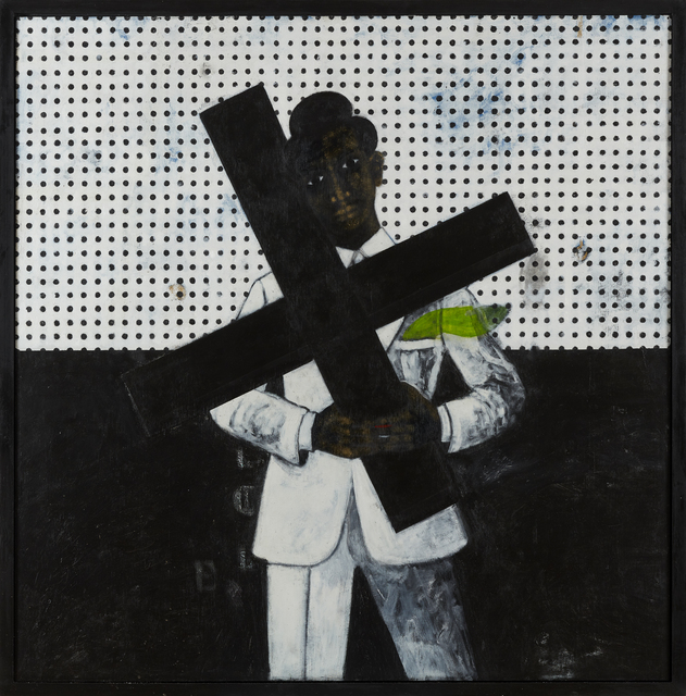 Abiodun Odedina, 'Newcross', 2020, Painting, Acrylic on plywood, CFHILL
