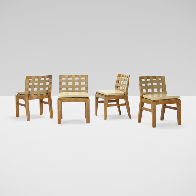 Jean Royère, 'chairs, set of four', c. 1937, Rago/Wright