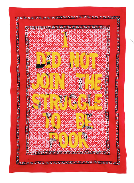 Lawrence Lemaoana, 'i did not join the struggle to be poor', 2015, Afronova
