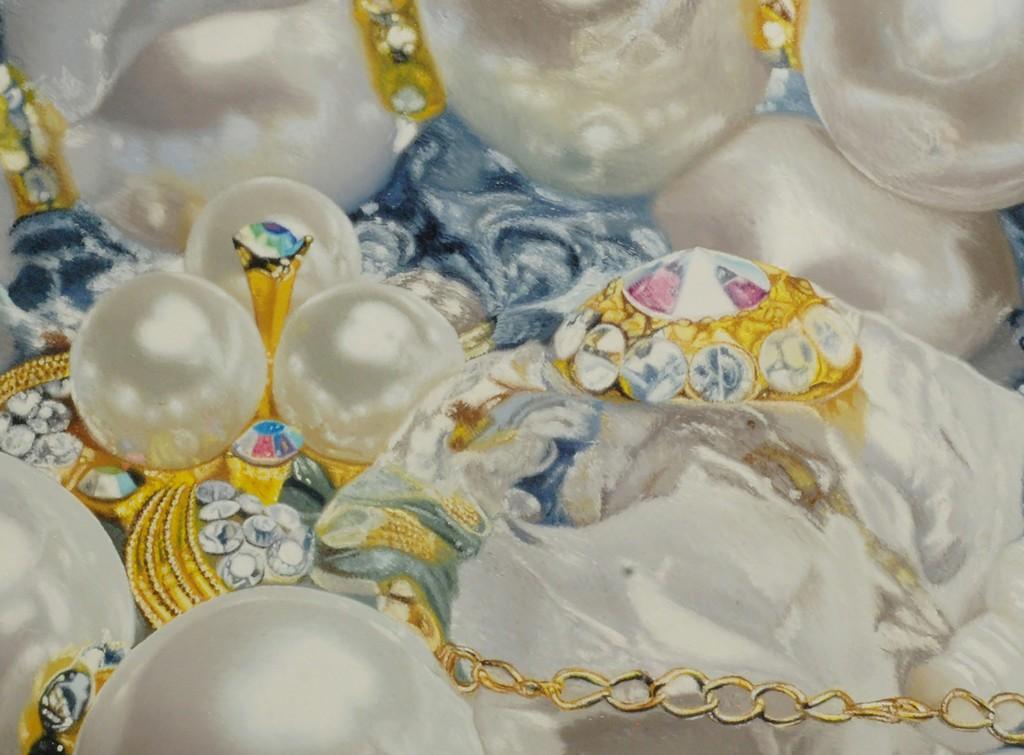 "DETAIL IMAGE: Ben Charles Weiner ""Gilded Pearls"""
