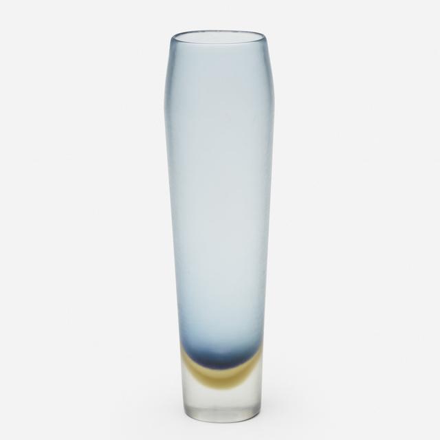 Paolo Venini, 'Inciso vase', c. 1956, Design/Decorative Art, Wheel-carved glass, Rago/Wright