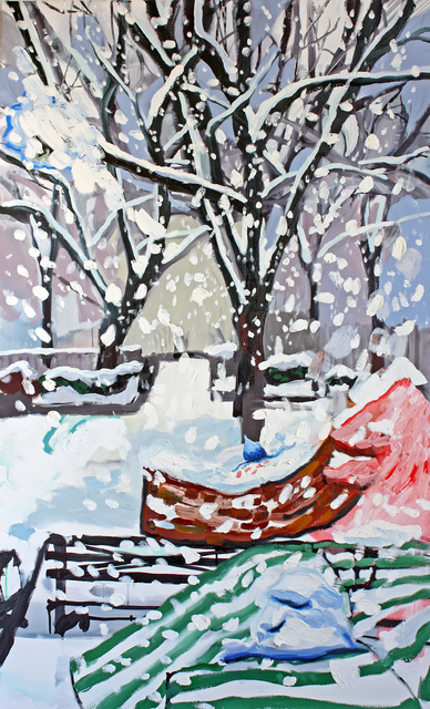 , 'Park Scene with Heap of Snow in Suzanne Valadons Lap,' 2016, G. Gibson Gallery
