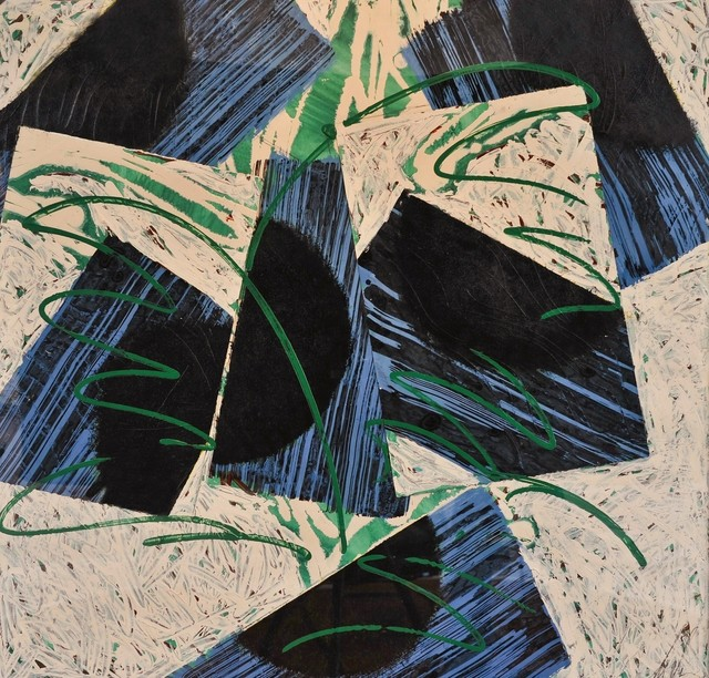 , 'Diagonals in Blue and Black,' , Andrea S. Keogh Art and Design