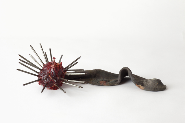, 'Emergency Weapon #21 (red with brown sock),' 2002, VENUS