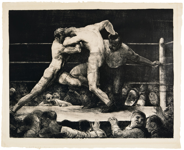 George Wesley Bellows, 'A Stag at Sharkey's', 1917, Print, Lithograph, on wove paper, Christie's