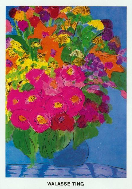 Walasse Ting 丁雄泉, 'Flowers', 1985, ArtWise