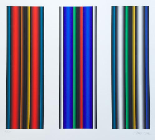 Dario Perez-Flores, 'Prochromatique Tryptich', 2015, Print, Lithograph, Kunzt Gallery