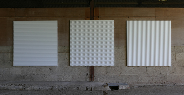 Adam Barker-Mill, 'Radiator Triptych', 1996, Installation, MDF panel, CNC milled, painted white, Bartha Contemporary