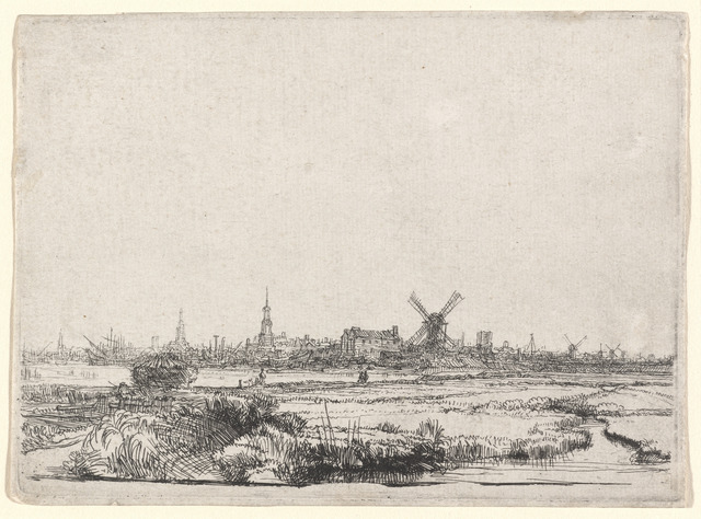 Rembrandt van Rijn, 'View of Amsterdam from the Northwest', ca. 1640, Print, Etching, National Gallery of Art, Washington, D.C.