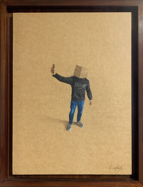 Armando Castro - Uribe, 'The Best Face', 2019, Drawing, Collage or other Work on Paper, Mixed media on cardboard, Beatriz Esguerra Art