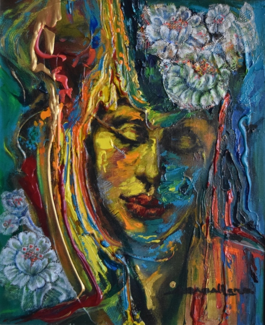 Ángel Caballero, 'Sinfonía del Silencio I', 2019, Painting, Mixed media on canvas, ACCS Visual Arts