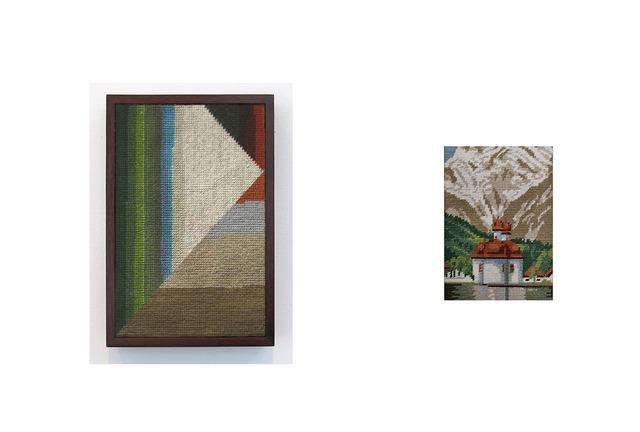, 'iglesia con cúpulas de cebolla sobre lago con bosque de pinos y montañas de fondo,' 2013, Wu Galeria