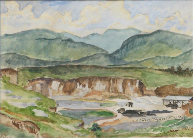 , 'Sin título (paisaje) México,' 1949, Oscar Roman