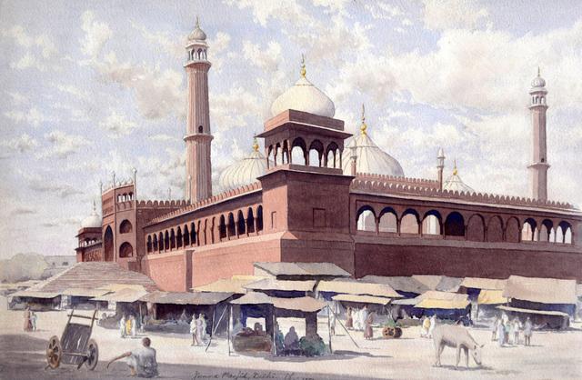 , 'Jumma Masjid, Delhi,' 1950, Swaraj Art Archive
