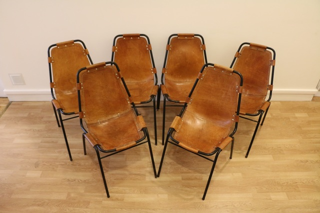 Charlotte Perriand, 'Set of Six Original Charlotte Perriand Les Arcs Chairs, France, 1960s', ca. 1960, Avant-Garde Gallery