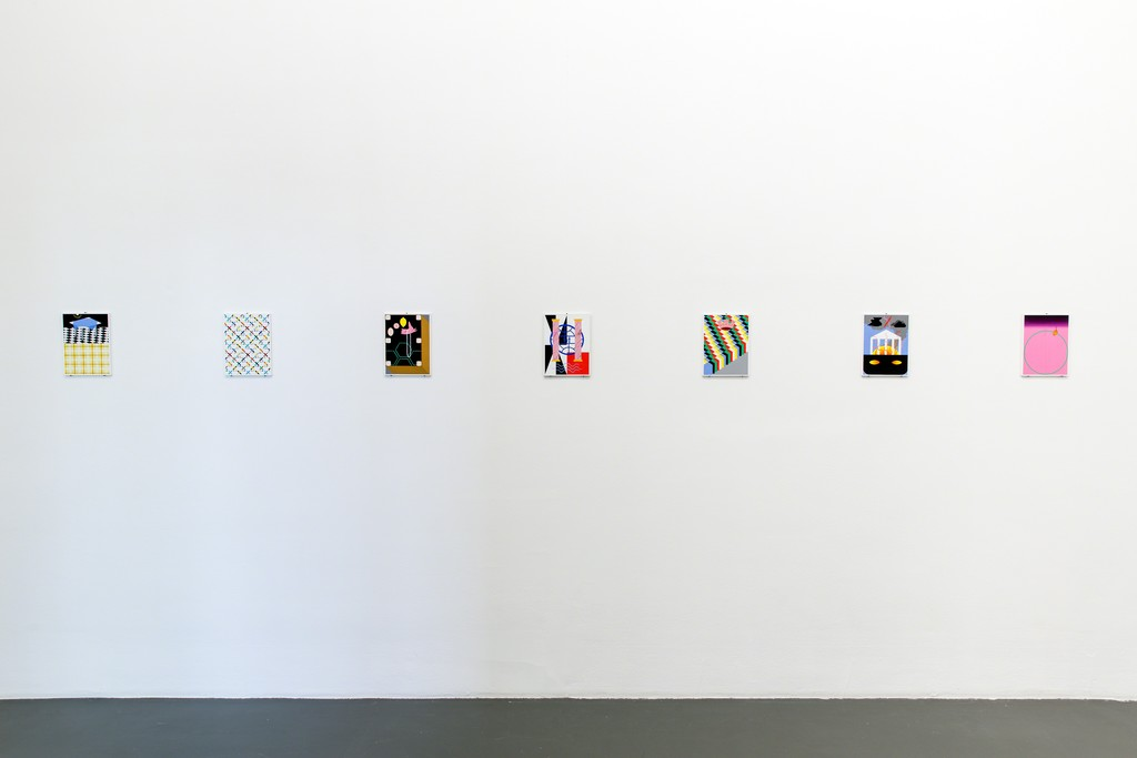 Kasper Bosmans, 'Legend: Decorations', 2016, gouache and pencil on seven poplar panels, installation view Witte de With Center for Contemporary Art, photo by Aad Hoogendoorn