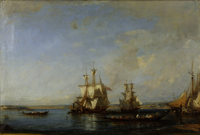 , 'Caiques and Sailboats at the Bosphorus,' ca. 19, Pera Museum