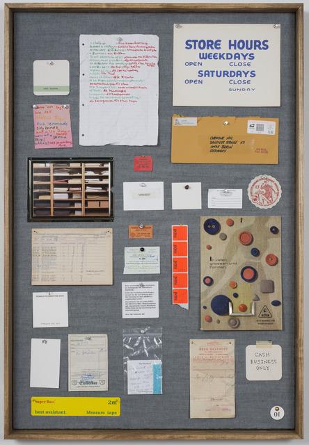 , 'Musterbrett (Sample Board) No. 1,' 2012, Ronald Feldman Fine Arts