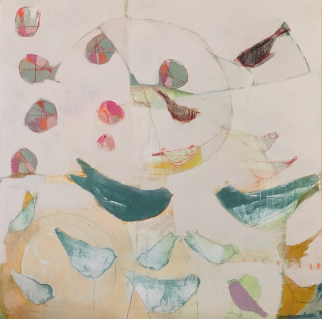 , 'Bird Crowd,' 2017, M.A. Doran Gallery