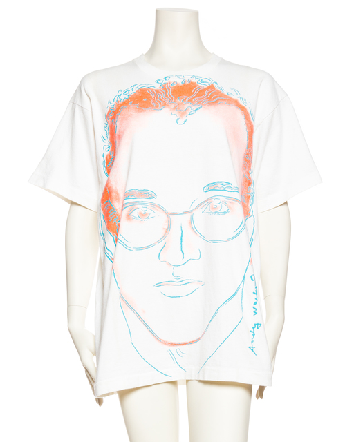 , 'Andy Warhol portrait of Keith Haring,' 1986, Morphew