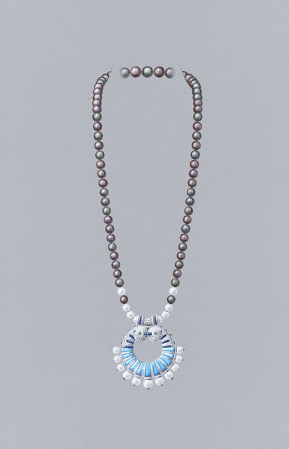 , 'Poema long necklace with detachable clip. Unique piece, High Jewelry Collection,' 2020, Van Cleef & Arpels