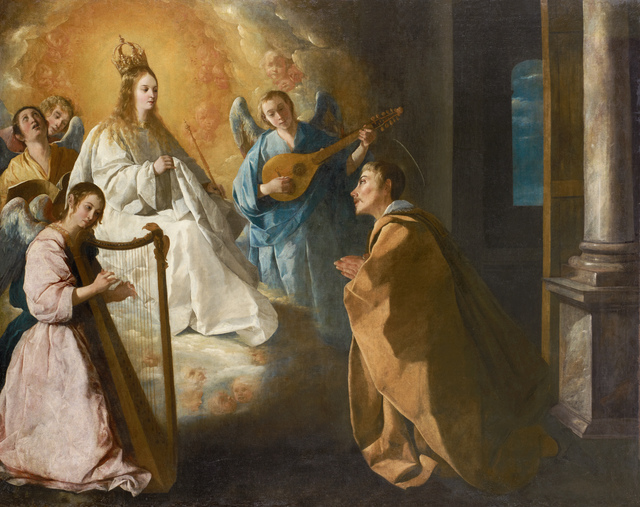 , 'Aparición de la Virgen a San Pedro Nolasco  (The Appearance of the Virgin to Saint Peter Nolasco),' ca. 1628-1630, Museo Thyssen-Bornemisza