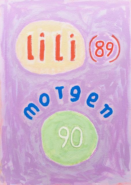, 'o.T. (lili 89 morgen 90),' 1991, Ruttkowski;68