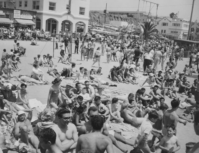 , 'People on Beach, Muscle Beach Santa Monica, CA,' 1954, Bruce Silverstein Gallery